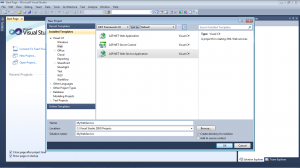 Picture 3. How to create Web Service in ASP.NET