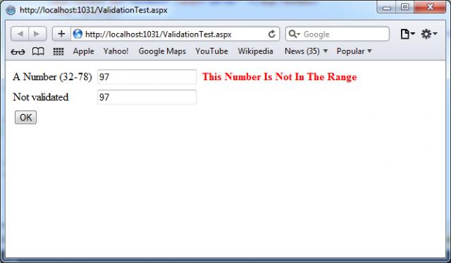 Range validator control in ASP.NET 4