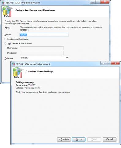 Selecting server and database for membership API data store