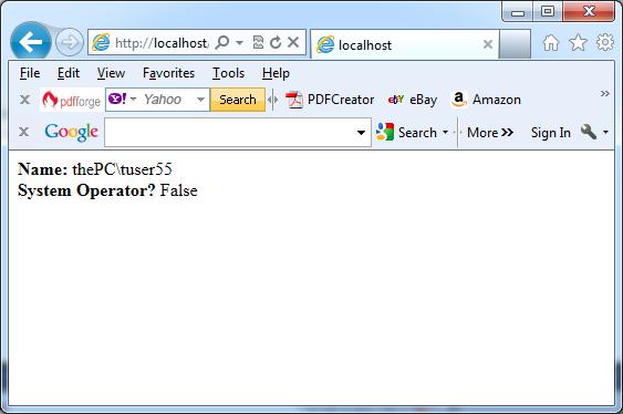 Testing group membership in C#