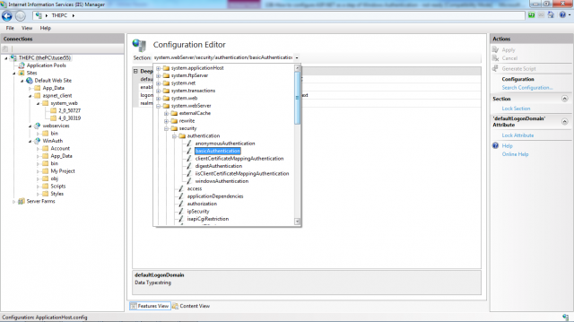 Configuration editor in action