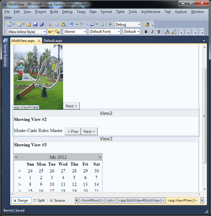 Multiple views in Visual Studio 2010
