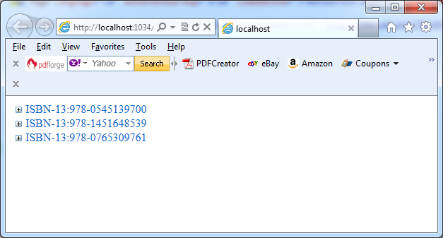 A test page with the TreeView control in VB.NET