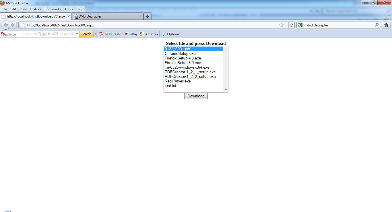 Downloading a file from the Web site in VB.NET